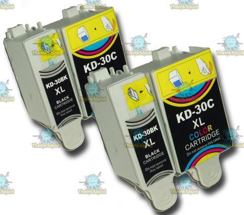 2 Sets of Kodak 30 XL (30B + 30CL) Compatible Ink Cartridges for ESP & Hero Printers