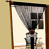 Homescapes Polyester Black String Curtain