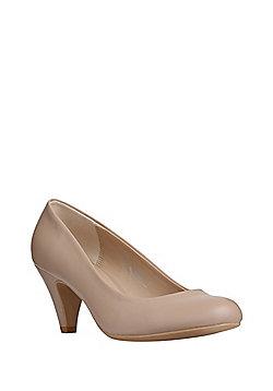 F&F Mid Heel Court Shoes - Beige