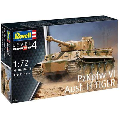 REVELL PzKpfw VI Ausf. H Tiger 1:72 Tank Model Kit 03262