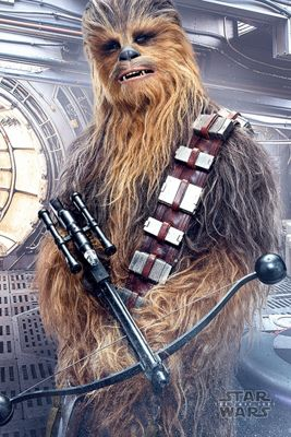 Star Wars The Last Jedi Chewbacca Bowcaster Poster 61x91.5cm