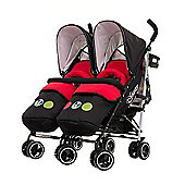 Disney Twin Stroller Bundle inc Footmuffs - Mickey Circles