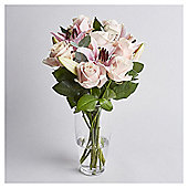 Finest Pink Rose & Lily Bouquet