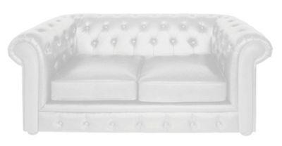 Premier Housewares Two Seater Chesterfield Sofa, White