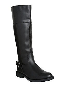 F&F Leather Knee High Boots - Black