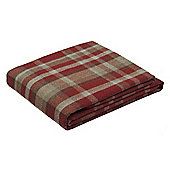 McAlister Heritage Throw - Red Wool Look Tartan Check (130x200cm)