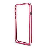 Cennett Rim Case for iPhone 6 PLUS and Iphone 6s Plus - Pink & Clear