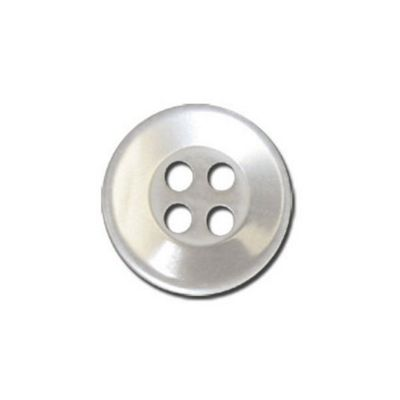 Impex Four Hole Polyester Shirt Buttons White 14mm 10pk