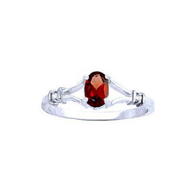 QP Jewellers Diamond & Garnet Aspire Ring in 14K White Gold - Size U