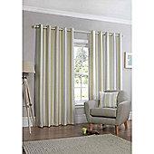 Falcao Lined Eyelet Curtains - Green