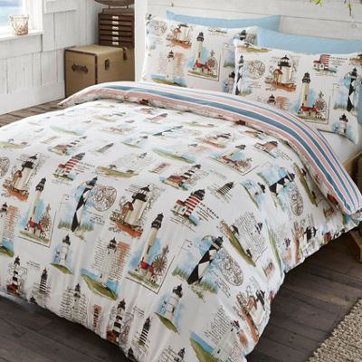 Lighthouse, Nautical Themed Super King Size Duvet