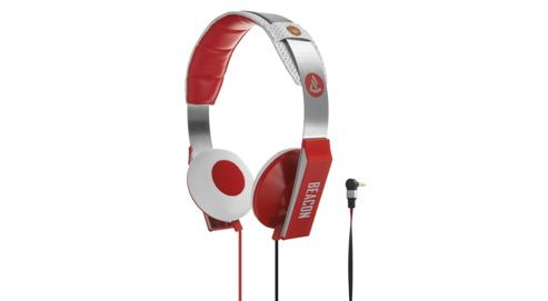 Beacon Orion On-Ear Headphones with Mic & Remote - Red/White