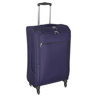 Buy Tesco Lightweight 4-Wheel Large Purple Suitcase from our ...