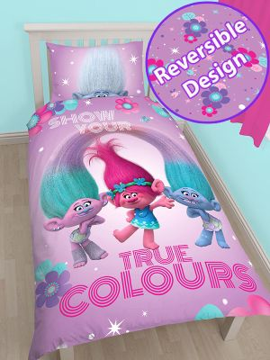 Trolls Glow Single Duvet Cover Set