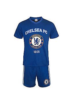 Chelsea FC Mens Short Pyjamas - Blue