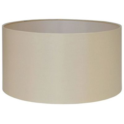 45cm Almond Silk Lamp Shade Lined Cylinder Shade Modern Style
