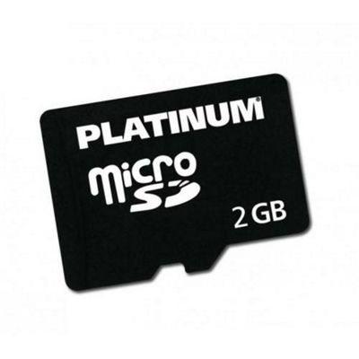 Platinum 2GB Micro SD Card with Adapter