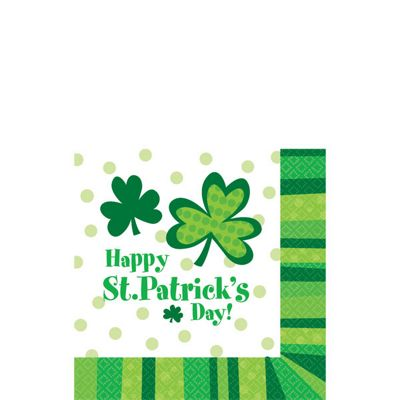 St Patricks Day Cheer Beverage Napkins - 2ply Paper