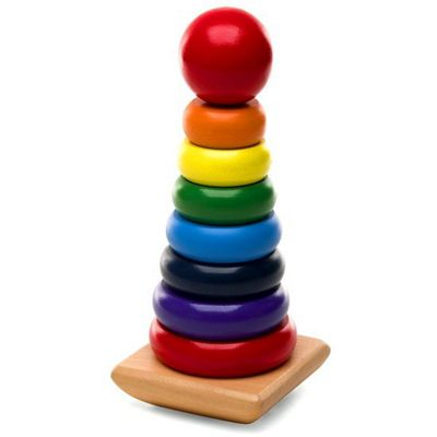 Melissa & Doug - Wooden Rainbow Stacker