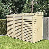 BillyOh Retford Premium Woodgrain Pent Plastic Storage Shed Inc Foundation Kit