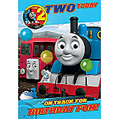 Thomas the Tank Engine 2nd Birthday Card