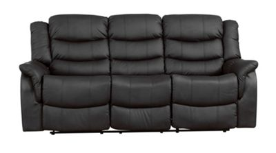Sofa Collection Victoria Recliner Sofa - 3 Seat - Black