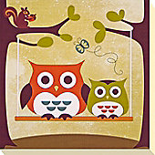 Owl & Friends Canvas Picture 1