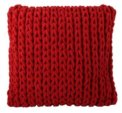 Modern Style Red Cushion Chunky Knit Design