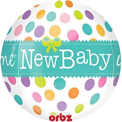 New Baby Orbz Balloon - 25 inch Long Lasting