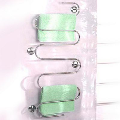 Snakes And Ladders - Wall Mounted Bathroom Towel Rail - Silver