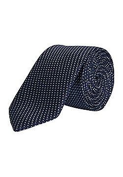 F&F Spot Slim Tie - Navy
