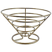 Tuftop Metalware 30cm Fruit Bowl, Satin Finish