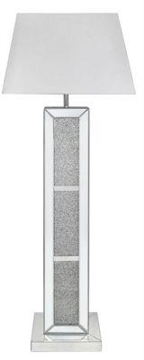Milano Mirror Brick Floor Lamp With 22 Inch White