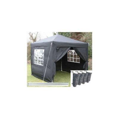 Airwave Pop Up Gazebo Fully Waterproof 2.5x2.5m in Black