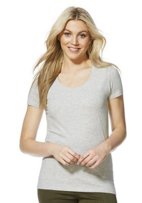 F&F Scoop Neck T-Shirt with As New Technology Grey 16