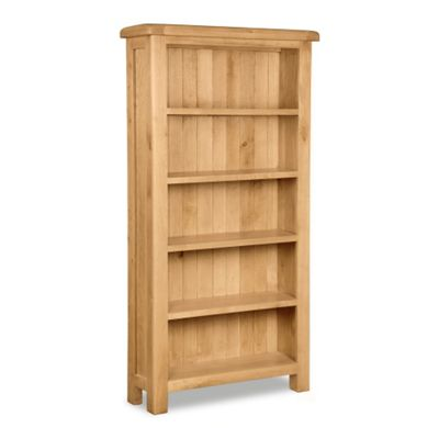 Zelah Oak Bookcase - Large Bookcase - Rustic Oak