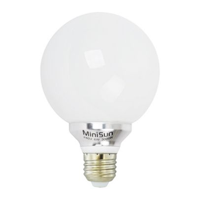 Minisun E27 6W LED Globe Bulb 3000K Warm White