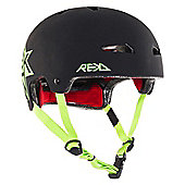 REKD Elite Icon Helmet - Black/Green - Medium (56-57cm)