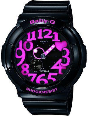 Casio BGA130/1BER Baby-G Watch with World Time - Black/Pink