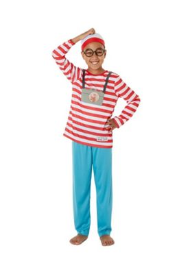 Where's Wally? Fancy Dress Costume Red 11-12 years