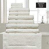 Belledorm Hotel Suite Madison 600 GSM Hand Bath Towel Sheet Ivory - Ivory