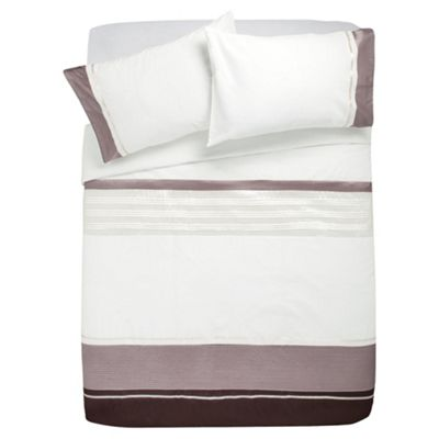 Tesco Cosmo Kingsize Size Duvet Cover Set, Natural