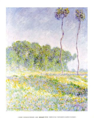 Claude Monet Paysage de Printemps Mini Print