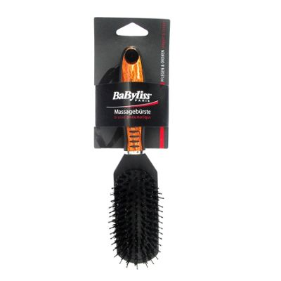 BaByliss Bristle Massage Hair Brush with Wooden Effect