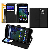 Orzly Moto G5 Multifunctional Wallet Case Plus - Black
