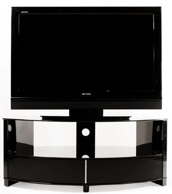 Optimum Preview High Gloss Black Corner TV Stand