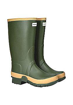 Hunter Mens Field Tall Gardener Wellies - Dark green