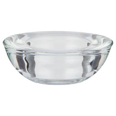 Tesco Glass Tea Light Holder Clear 4 Pack