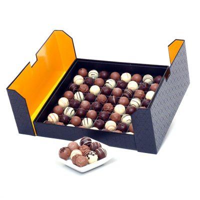 luxury belgian truffles in stylish black box 950g (CH22)