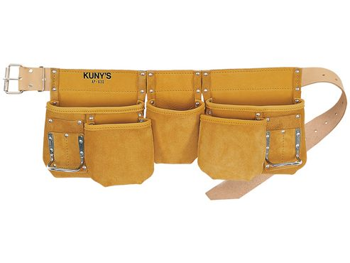 Kunys AP-630 Carpenters Apron 13 Pocket Full Grain Leather